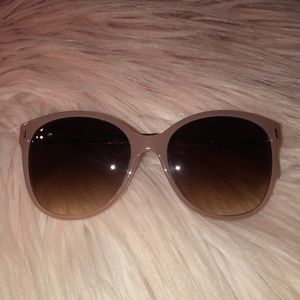 Dusty Rose Clear colored Sunglasses